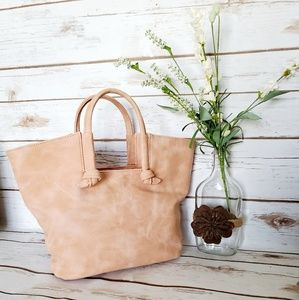 NWT | Anthropologie Kaitlyn Knotted Tote - Rose